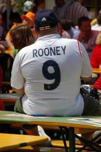 An England supporter at the World Cup 2006 in Nuremberg. Photo (c) Christian Krug. Used by permission